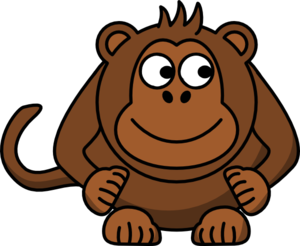 Monkey Looking Right Clip Art