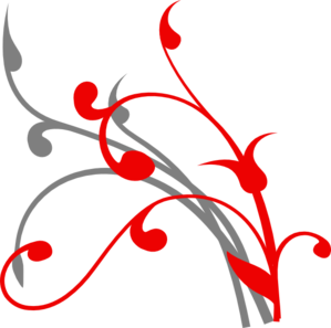 Red/grey Branch Clip Art
