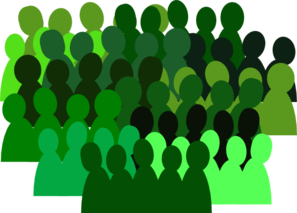 Larger Very Green Crowd Clip Art