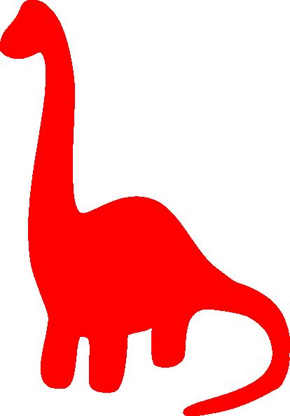 Red Dinosaur Silhouette Clip Art at Clker.com - vector clip art online ...