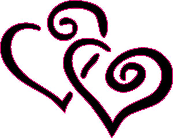 clip art double hearts free - photo #36