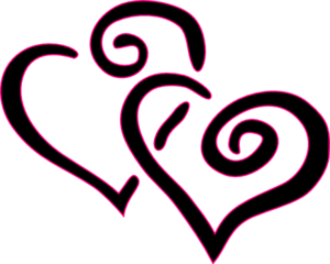 Double Hearts Clip Art at Clker.com - vector clip art online ...