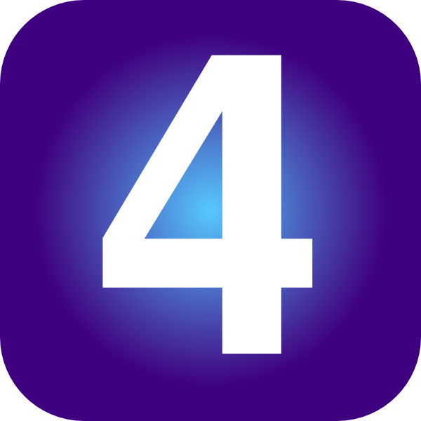 purple number 4 clker clipart