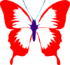 Butterfly Red Clip Art