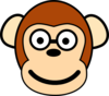 Monkey With Glasses Clip Art