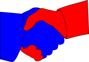 Image result for red blue handshake