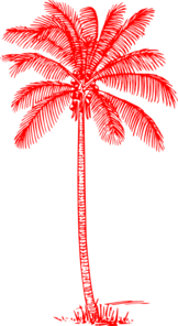 Red Palm Tree 1 Clip Art