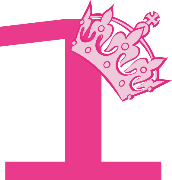 1st Birthday Pink Tiara Clip Art at Clker.com - vector ...