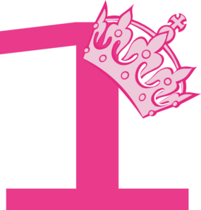 1st Birthday Pink Tiara Clip Art