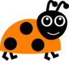 Orange Ladybug  Clip Art