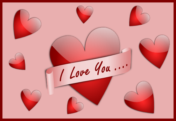 I Love You Card Clip Art at Clker.com - vector clip art ...