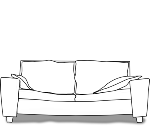 White Couch Clip Art