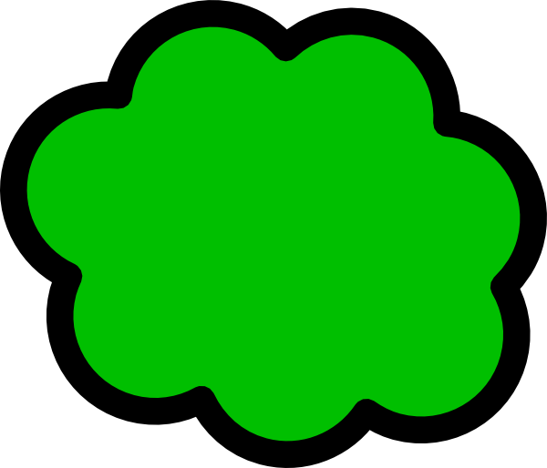 Green Cloud Clip Art at Clker.com - vector clip art online ...