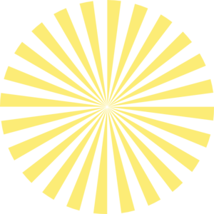 Pale Yellow Sunburst Clip Art
