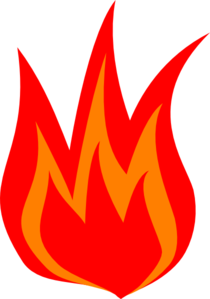 Red Fire Logo Clip Art