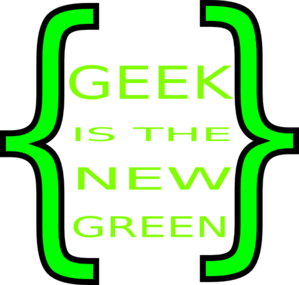 Geek Is The New Green Clip Art