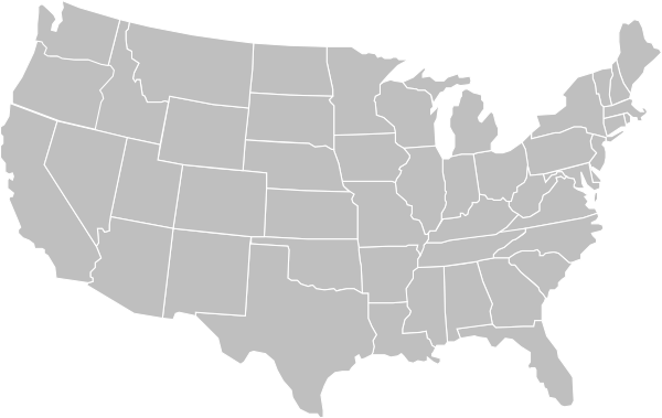 Blank Gray Usa Map White Lines Clip Art At Clker Com