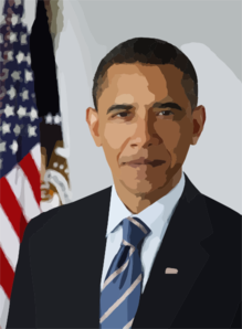President Official Portrait Hires Clip Art