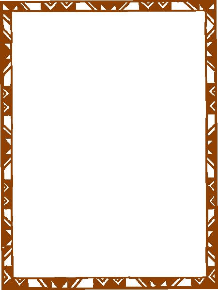 Brown Orange Frame Clip Art At Clker Com Vector Clip Art