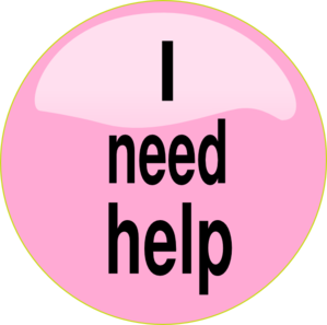 I Need Help Pink Button Clip Art