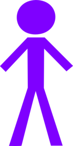 Purple Stick Figure Clip Art