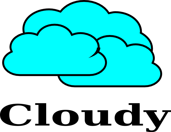 Clip Art Cloudy Clipart cloudy clip art at clker com vector online royalty download this image as