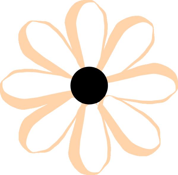 Black Flower 3 Clip Art At Clker Com: Flower Cute Pink Black Clip Art At Clker.com