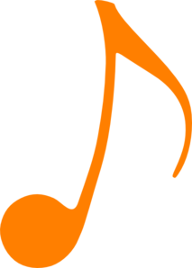 Orange Music Note Clip Art