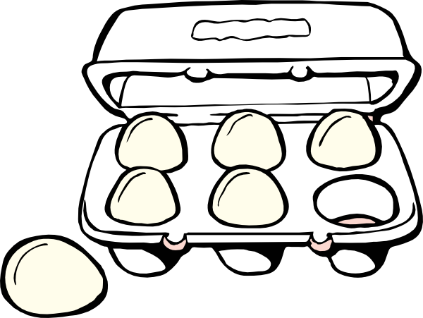 How to draw egg carton