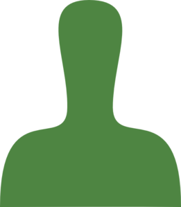 Green Person Silhouette Clip Art