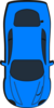Blue Car - Top View - 270 Clip Art
