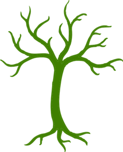 Green Tree Without Leaves Clip Art