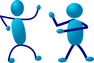 Two Stickmen Clip Art