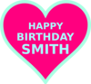 Smith Bday Clip Art