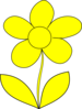 Yellow Matt Flower Clip Art