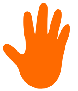 Orange Right Hand Clip Art