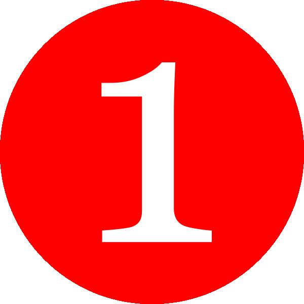 Red Number 1 Clip Art