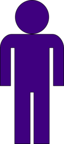 Purple Man Clip Art