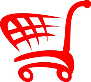 Red Shopping Cart Clip Art Clip Art