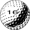 Golf Ball Number 16 Clip Art