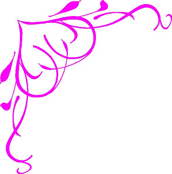 Pink Heart Border Clip Art At Clker Com Vector Clip Art