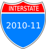 Interstate 2010-11 Clip Art