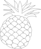 Pineapple Outline Clip Art