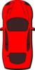 Red Car - Top View - 90 Clip Art