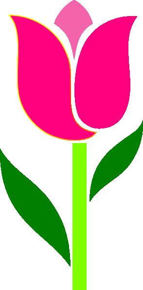 pink graphic flower clip art at clkercom vector clip
