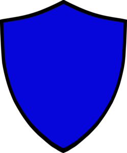 Shield-blue Clip Art