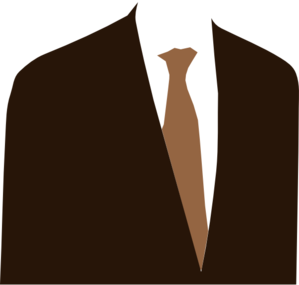 Brown Suit Clip Art
