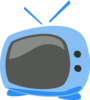 Blue Cartoon Tv Clip Art