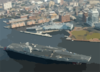 Uss George Washington (cvn 73) Passes By Uss Wisconsin (bb 64). Clip Art