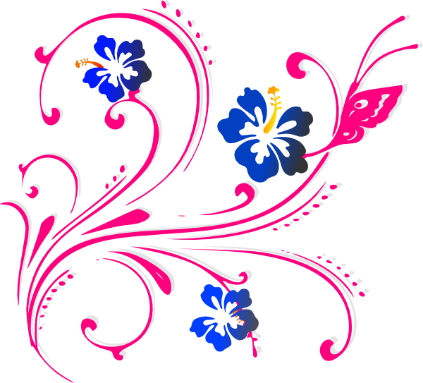 Purple Butterfly Scroll Clip Art At Clker Com: Butterfly Scroll Pink Clip Art At Clker.com